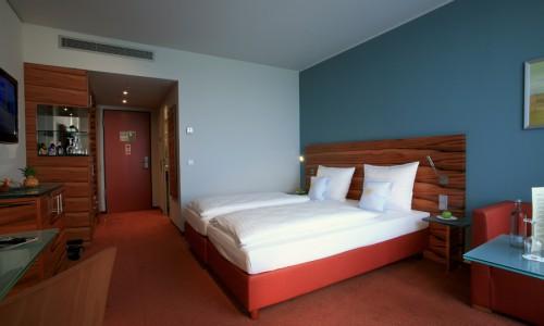 Doppelbettzimmer im Tagungshotel