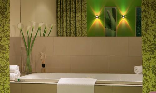 Badezimmer des Seminarhotels
