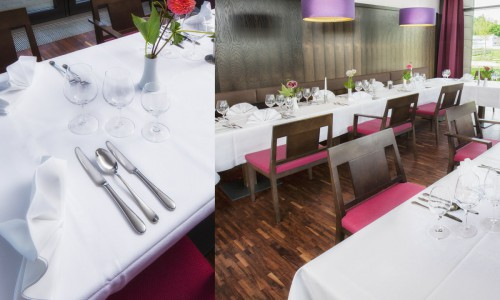 Fotocollage vom Restaurant im Tagungshotel